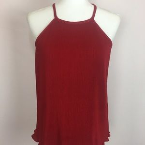 BANANA REPUBLIC Cherry Red  Tank Top. Size M NWOT.